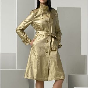 BURBERRY metallic gold trench coat